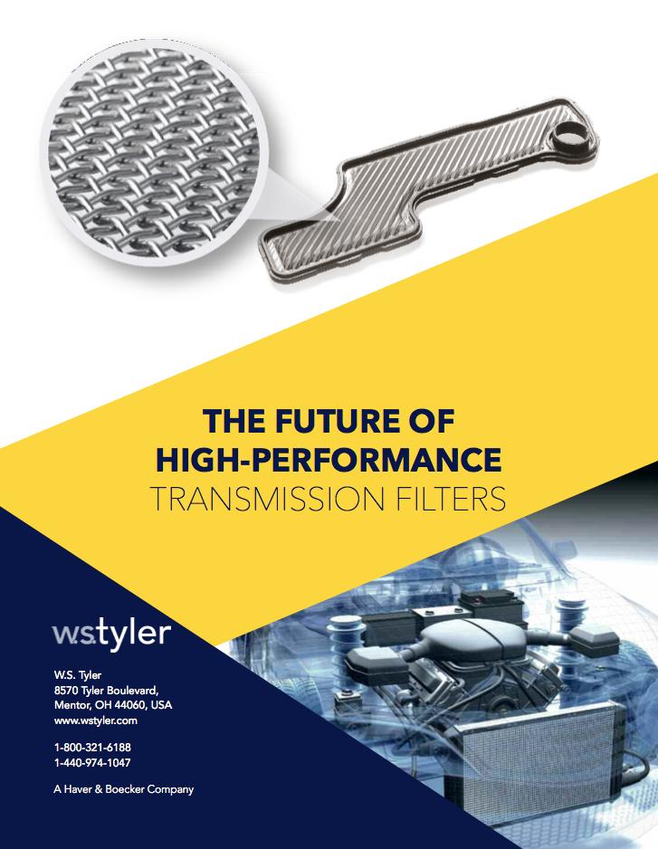 W.S. Tyler White Paper Transmission Filter