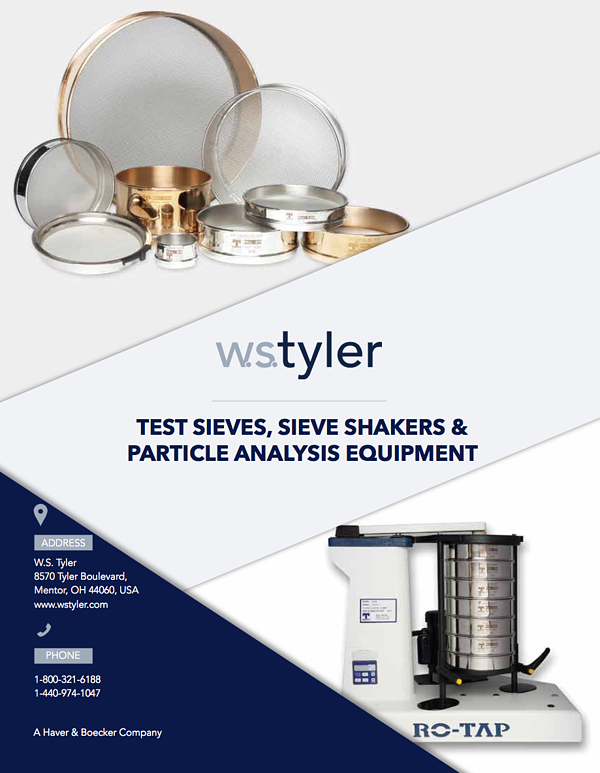 W.S Tyler Product Guide Brochure